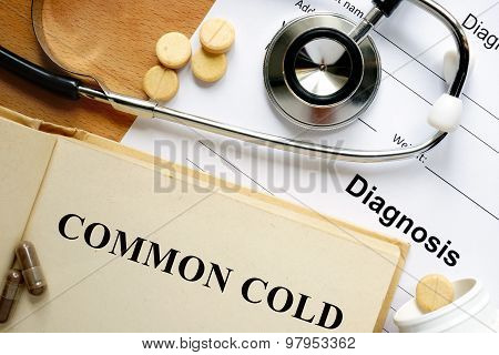 Word Common cold.