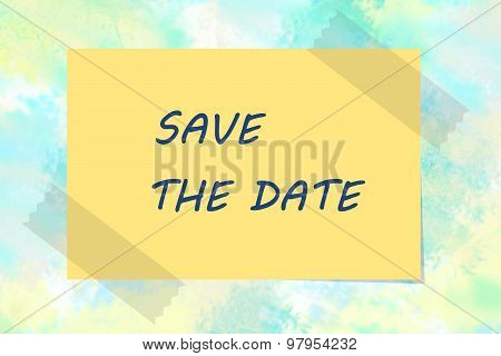 Reminder for save the date concept