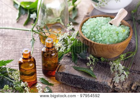 Essential Aroma Oil  And Sea Salt