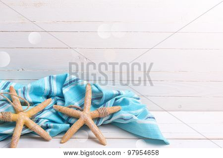 Marine Item  And Blue Towel