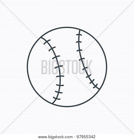 Baseball icon. Sport ball sign.