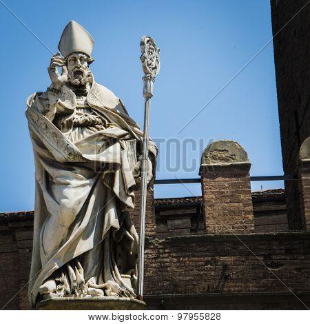 Statue Of San Petronius