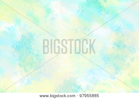 Art abstract painted blue blurred background