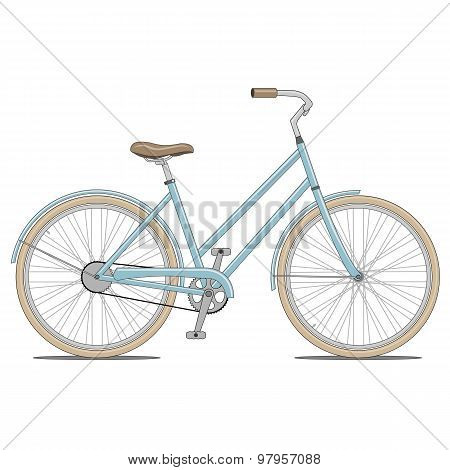 Blue Bike Vector Illustration