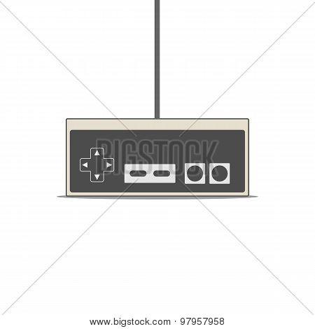 Gamepad vector flat Illustration