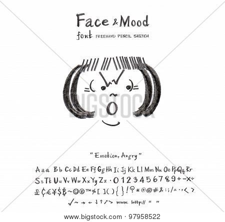 Face Mood Angry Font
