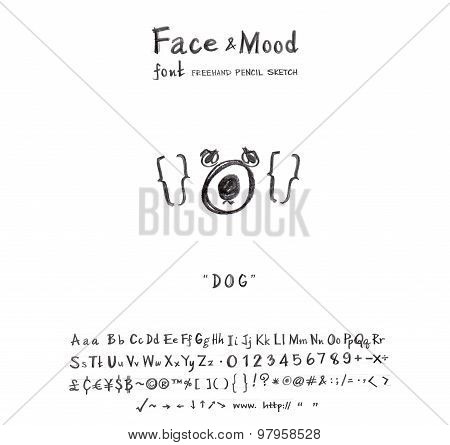 Face Mood Dog Font