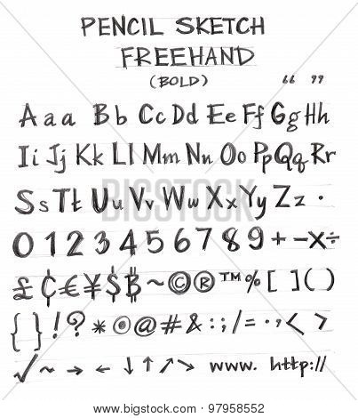 Freehand Pencil Font Bold