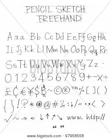 Freehand Pencil Font