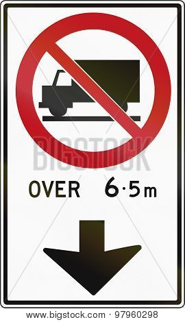 Trucks Forbidden Ahead In Canada