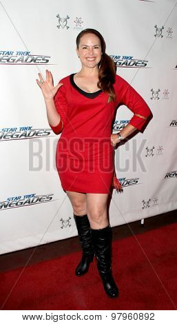 LOS ANGELES, CA - AUGUST 1: Lisa Cash arrives at the premiere of Star Trek: Renegades at the Crest Theatre on August 1, 2015 in Los Angeles, CA.