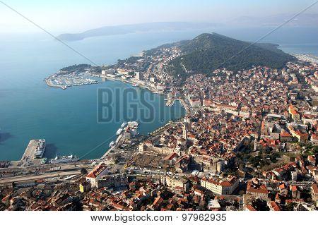 Split in Croatia, aerial view