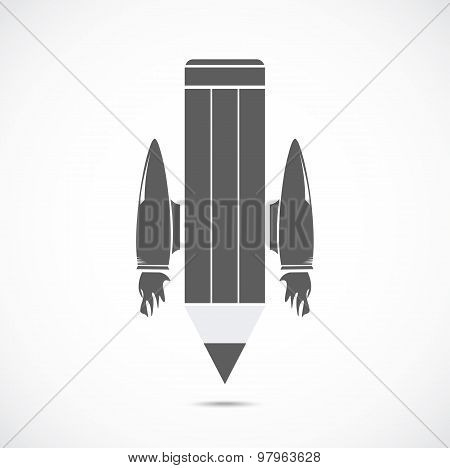 Pencil with jet engines