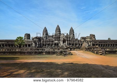 Angkor Wat Temple In Siem Reap Cambodia.