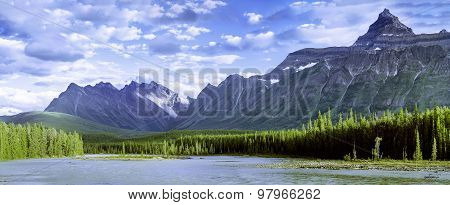 Panorama of Rocky Mountains