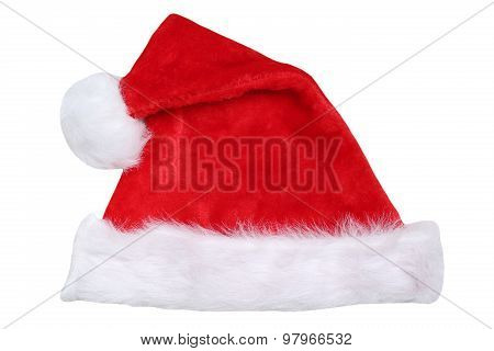 Santa Claus Hat On Christmas Isolated