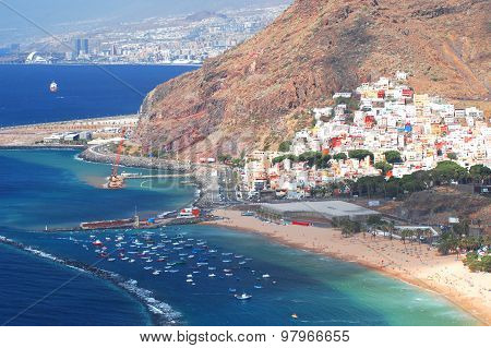 Gorgeous San Andres village and Teresitas beach on Tenerife island, Spain