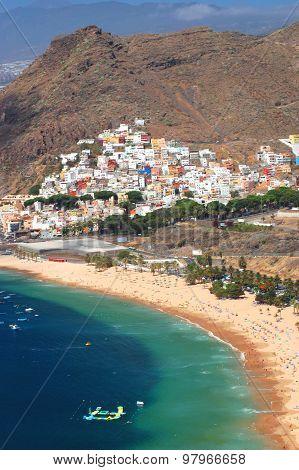 Gorgeous San Andres village and Teresitas beach on Tenerife island, Spain