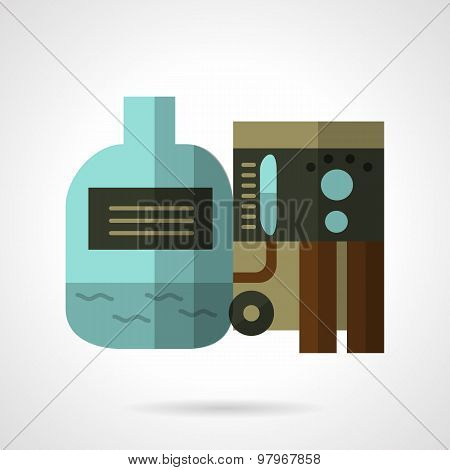 Water purification flat vector icon