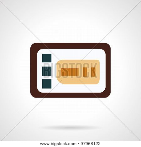 Control panel flat vector icon