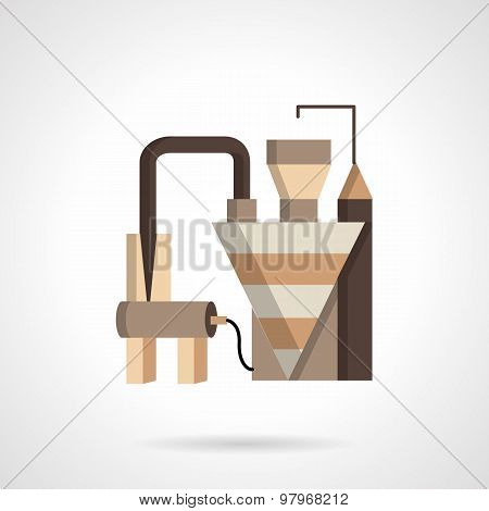 Grain factory flat vector icon
