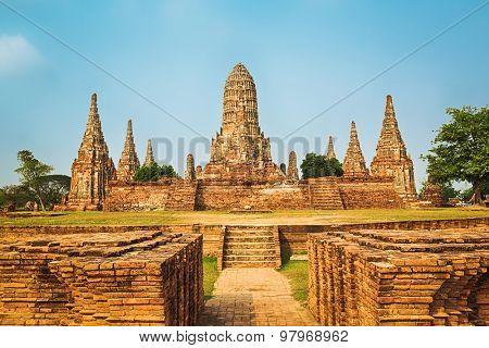 Wat Chaiwatthanaram. Ayutthaya historical park.