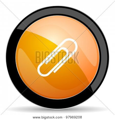 paperclip orange icon