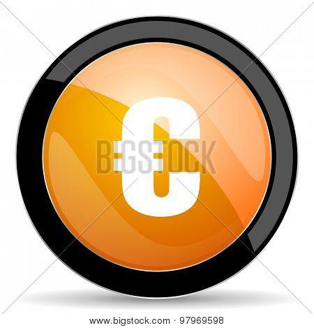 euro orange icon