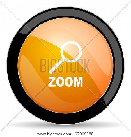 zoom orange icon