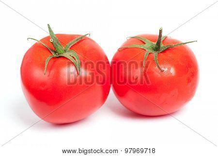 Tomatoes isolated on white background