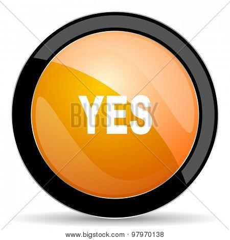 yes orange icon