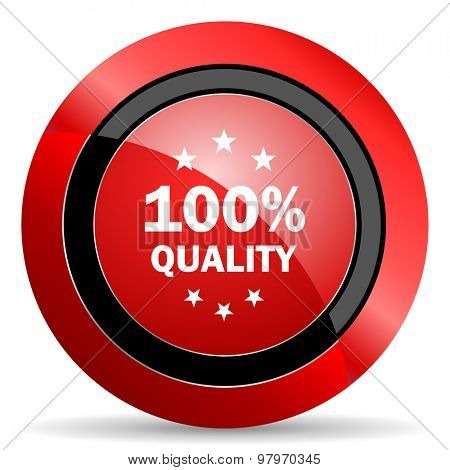 quality red glossy web icon