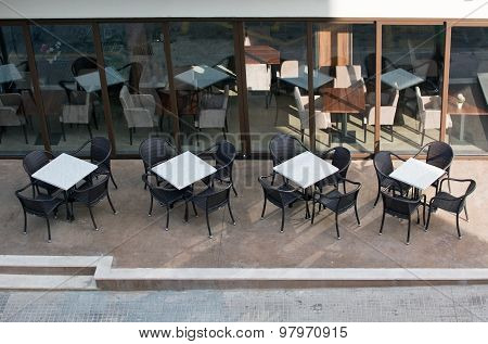 White Cafe Tables