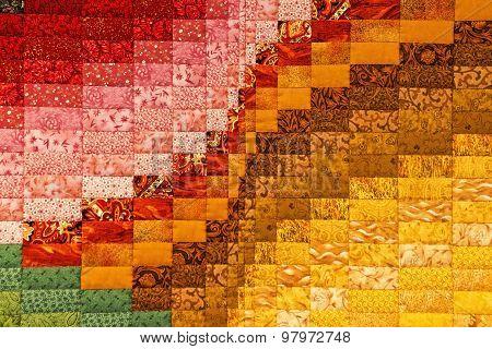 Multi Colored Quilt Patchwork