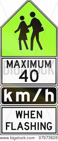 Maximum 40 Kmh When Flashing In Canada