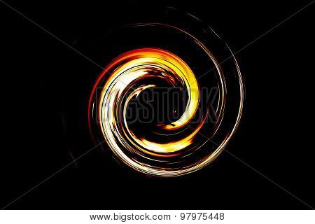 Abstract Spiral Flame