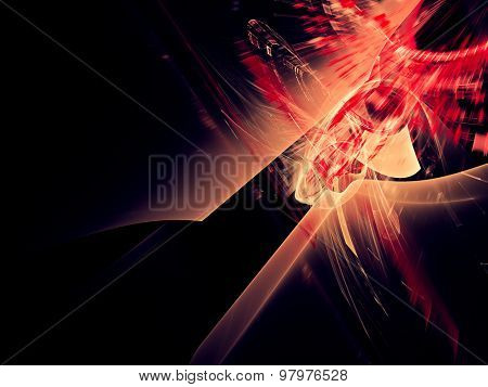 Abstract red background. Detailed computer graphics
