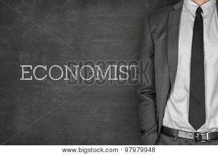 Economist on blackboard