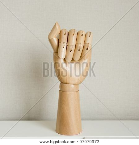 Hand With Mailed Fist Isolated On A White Background