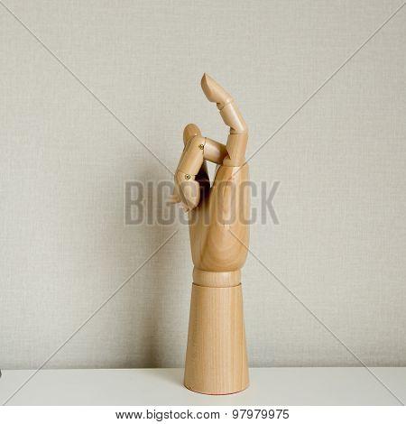 Little Finger In White Background