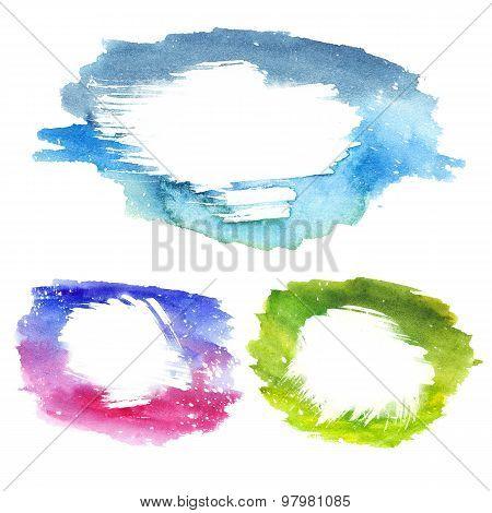 Watercolor Text Frames