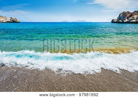 Beautiful Wild Beach With Turquoise Water.