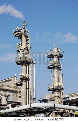 Chimneys of industrial plant