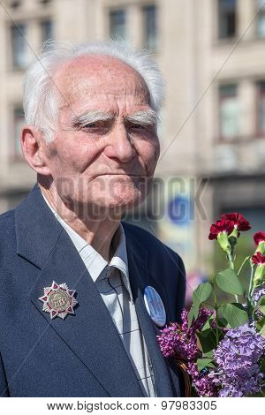 World War Ii Veterans On Parade In Kiev, Ukraine
