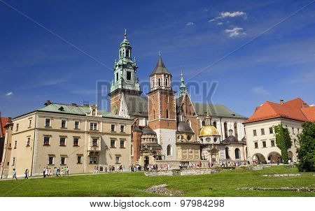 Krakow, Poland - August 1, 2015: Wawel Cathedral On 1 August 201