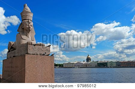 St. Petersburg Quay with Sphinxes