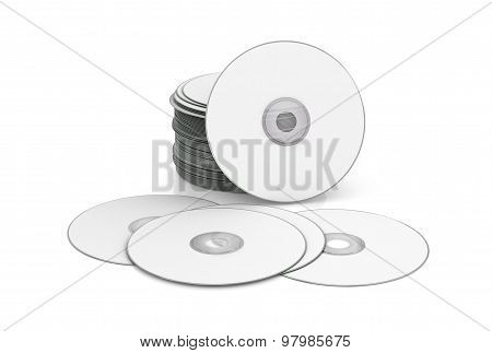 Cd, Dvd Isolated On White