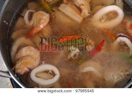 Thai Spicy Lemongrass Sea Food Soup