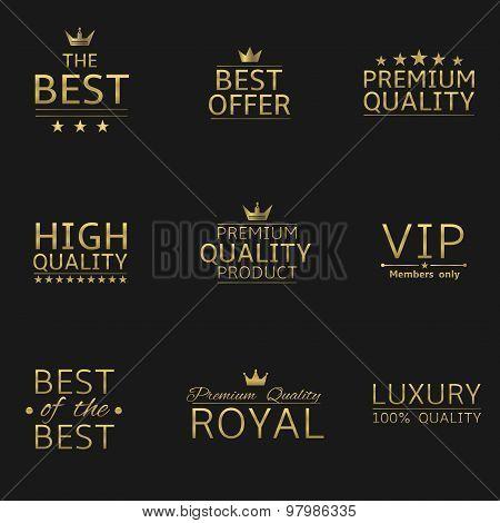 Golden logo set