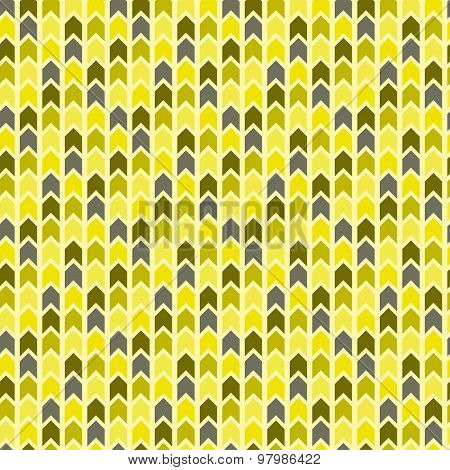 Vector yellow chevron seamless pattern